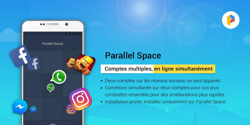 Parallel Space-Multicompte – Capture d'écran