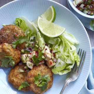 Thai Style Fishcakes with Lime and Banana Salsa.