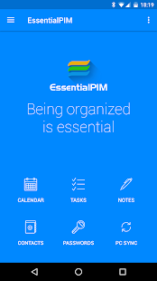 EssentialPIM - Your Personal Information Manager Screenshot
