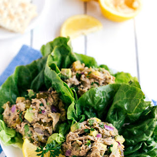Avocado Tuna Lettuce Wraps