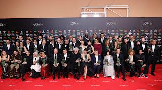Foto de familia de todos los premiados de la XXXIV edición de los Premios Goya.