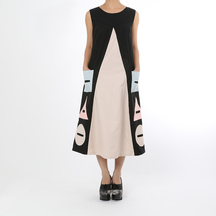 Shiro Geometrical Long Dress by STH Creative S/B