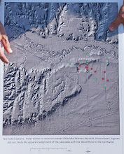Photo: Map of the drill holes.