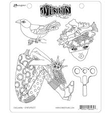 Dylusions Cling Stamps 8.5X7 - Clockwork