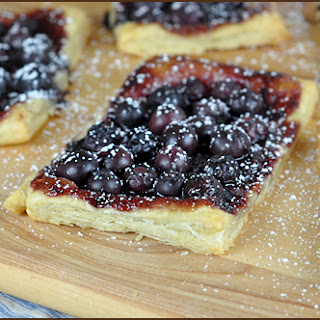 Blueberry Puff Pastry Tart.