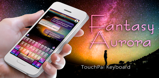 Fantasy Aurora Keyboard Theme app (apk) free download for Android/PC/Windows screenshot