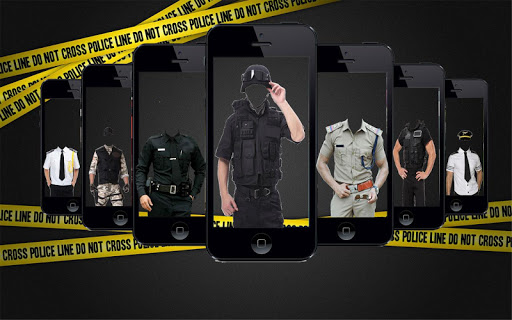 Police Man Suit Photo Frame