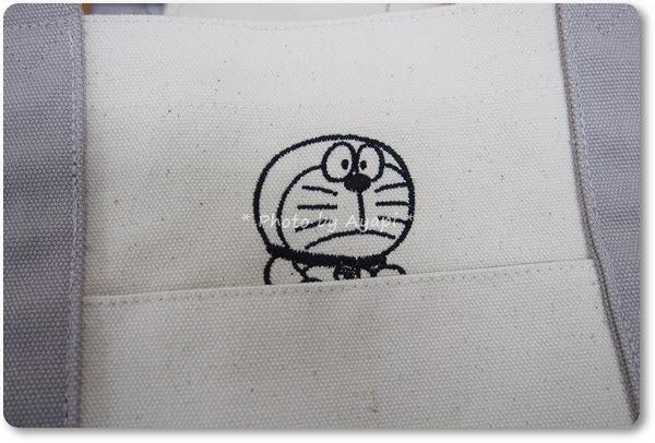 ドラえもんトートバッグ刺繍2