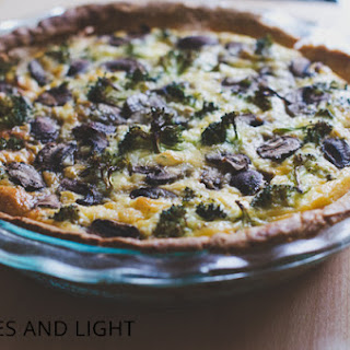 Broccoli, Mushroom and Shallot Quiche