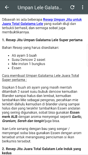 Resep Jitu Umpan Galatama 8.8 screenshots 3