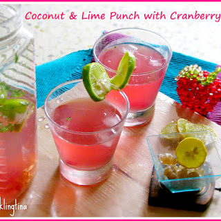 Coconut Lime Punch with Cranberry Twist.