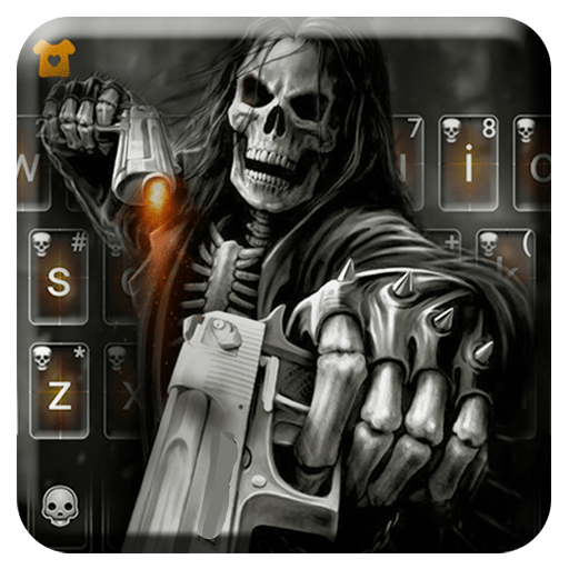 Badace Skull Guns Keyboard - cool gun theme Icon