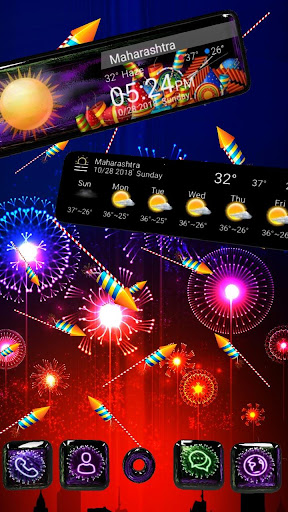 3D Happy 2018 Diwali Glass Themeud83dudca3 1.1.1 screenshots 1