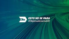 Logo y cartel de la campaña para exigir que se culmine el proyecto del AVE