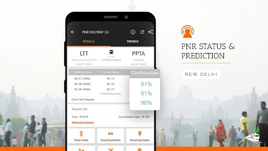 PNR Status, Train Running Status & Ticket Booking App Download For Android 5