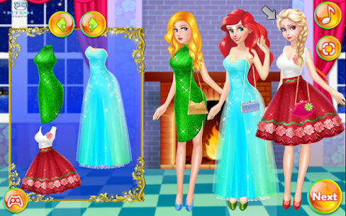 Dress up games for girl – Princess Christmas Party 3