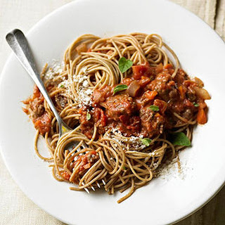 Spaghetti with Best-Ever Bolognese Sauce.