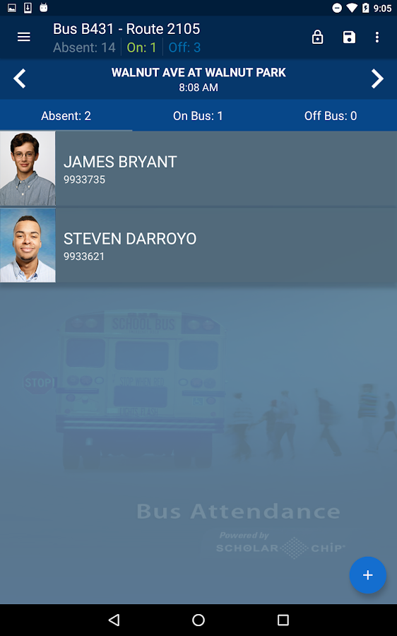 School Bus Attendance- screenshot
