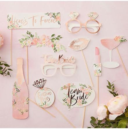 Photobooth-kit - Floral Hen