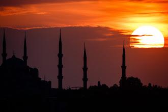 Photo: Sunset over Hagia Sophia The Blue Mosque (Sultanahmet Camii) - thanks +Baki Karacay for the correction!  For  #TurkishThursday by +Baki Karacay (+Turkish Thursday) #TravelThursday by +Laura Mitchum