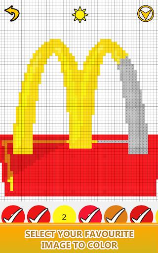 Logo Color by Number - Pixel Art, Sandbox Coloring app (apk) free