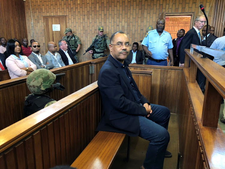 Mozambique's former finance minister Manuel Chang appears in court during an extradition hearing in Johannesburg, on January 8 2019. Picture: REUTERS/SHAFIEK TASSIEM