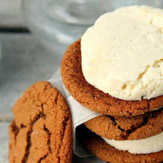 Ginger Snap & Ricotta Lemon Cardamom Ice Cream Sandwiches