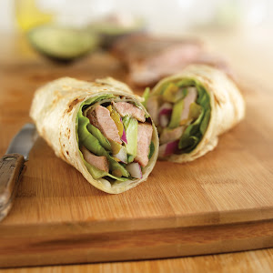 Game Day Pork and Chile Wraps