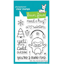 Lawn Fawn Clear Stamps 3X4 - Yeti, Set, Go