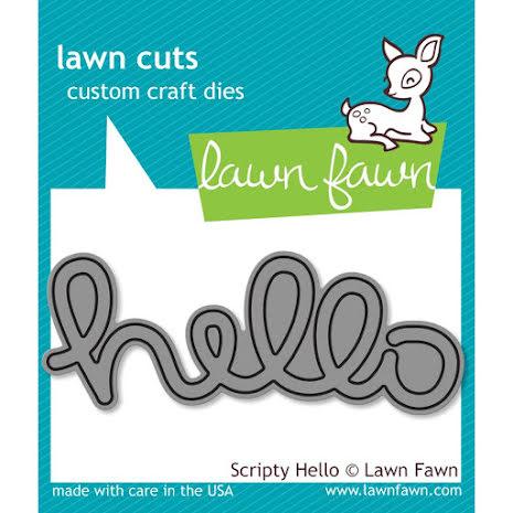 Lawn Fawn Custom Craft Die - Scripty Hello