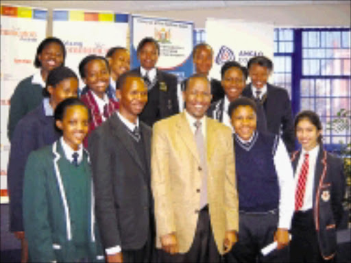 LEADERSHIP POTENTIAL: Eastern Cape education MEC Mahlubandile Qwase with the province's 2009 contestants in East London early this month. Pic: SAMANTHA CHOLES. Circa June 2009. © Unknown.