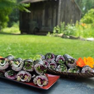 Vegetarian Maki Rolls.