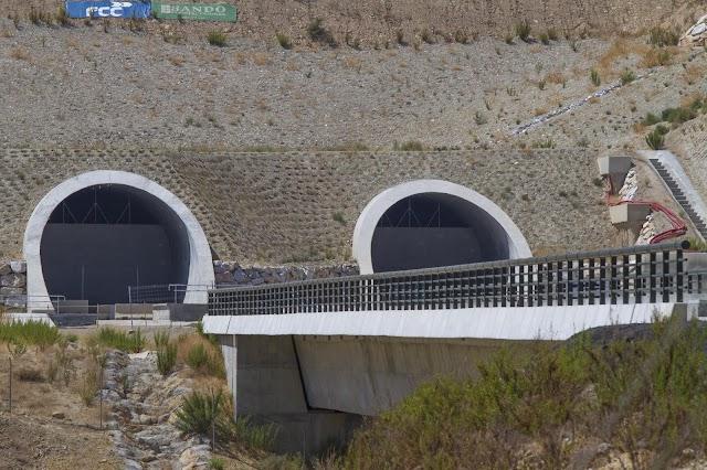 Túneles ya construidos en la zona de Sorbas