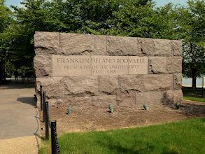 Photo: Entrance of the Franklin D. Roosevelt Memorial.