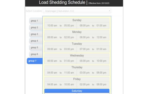 Nepal Load Shedding Schedule