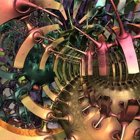 Rainbow Generator by Ricky Jarnagin - Illustration Abstract & Patterns ( abstract, ricky jarnagin, mandelbulb, dsynegrafix, 3d art, fractal, digital )