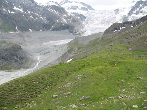 Photo: The Moiry ice fall and Glacier above Lac de Moiry