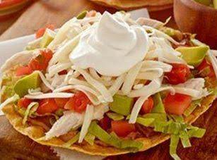 Crispy Chicken Tostada Recipe