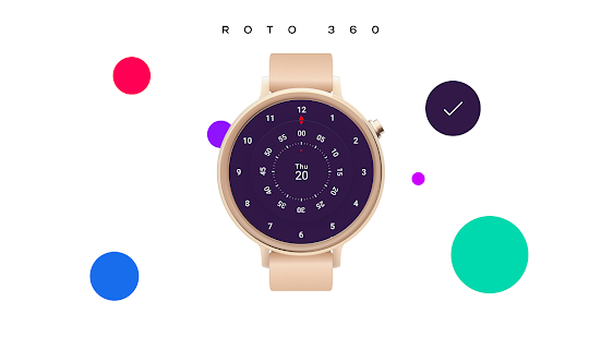 Roto 360 Watch Face for Android Wear Screenshot