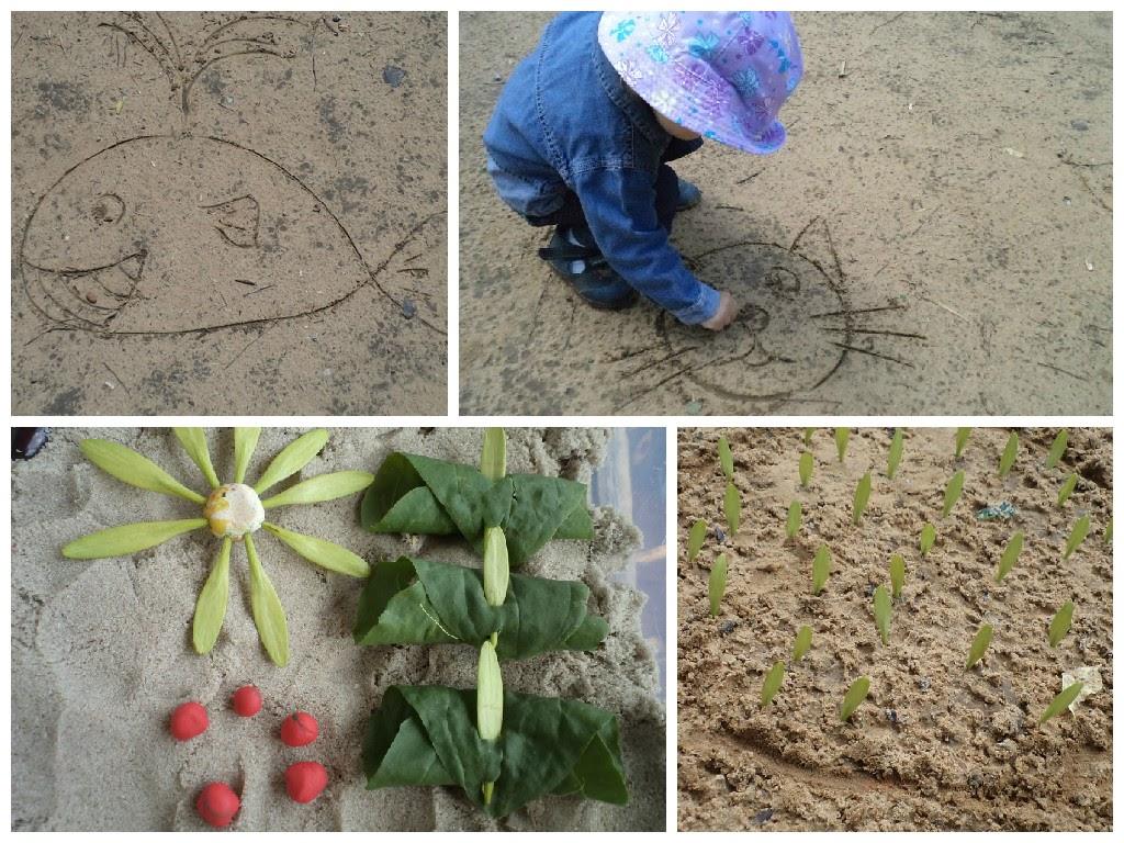 игры с песком и природным материалом