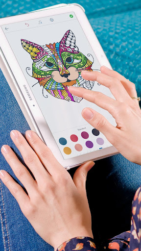 Cat Coloring Pages for Adults screenshots 1