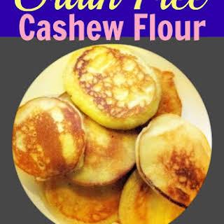 Gluten Free, Grain Free Cashew Flour Pancakes.