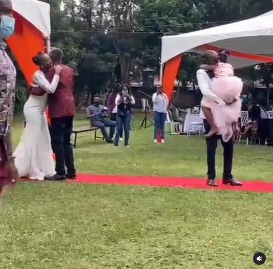 screengrab of the wedding