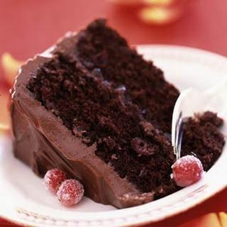 Luscious Cranberry-Chocolate Cake.