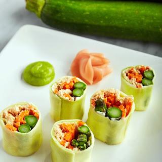 Spicy Zucchini Salmon Roll.