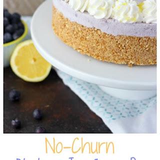 No-Churn Blueberry Ice Cream Pie