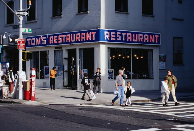 Tom's Restaurant, the facade of Monk's Cafe.