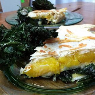 Delicata Squash & Kale Pie