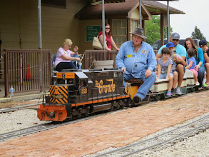 Photo: Pete Greene, leaving the station.    HALS Public Run Day 2015-0418 RPW