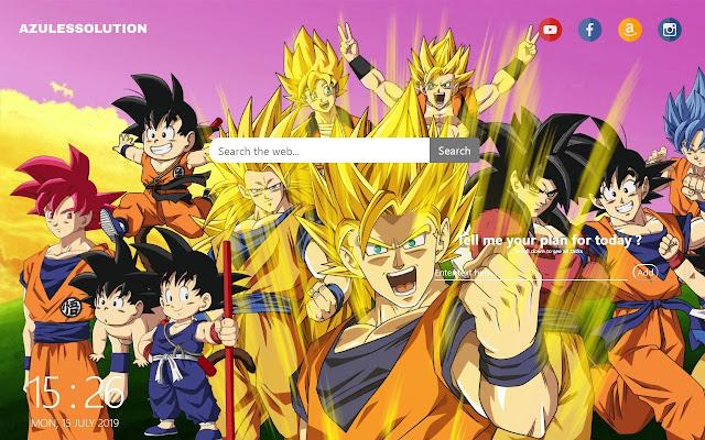 Dragon Ball Z Wallpaper New Tab Theme